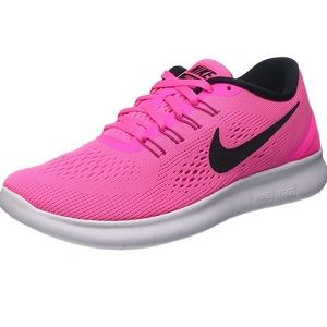 NWOT - Nike Free RN Womens Pink & Black Shoe